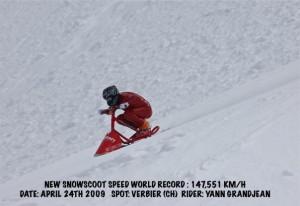snowscoot スピード世界記録