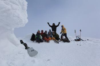 チセヌプリ山頂にて